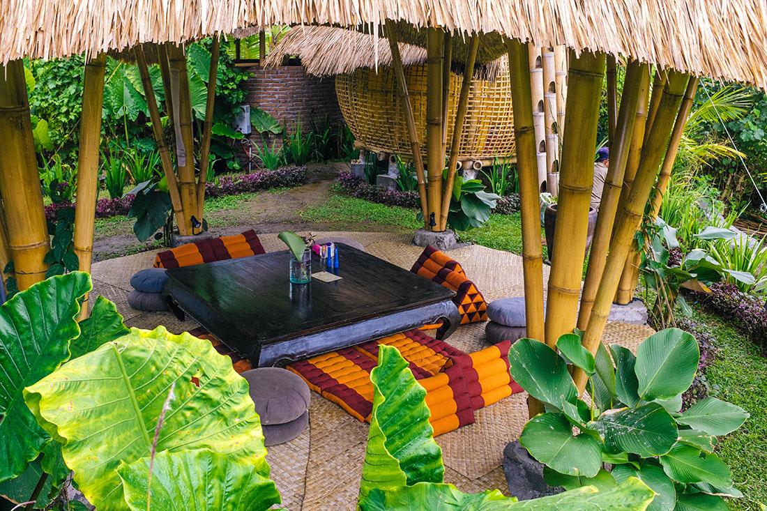 Eco villa au milieu des rizières, Ubud