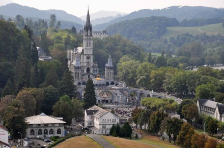 O santuário de Lourdes