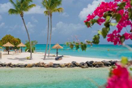 A praia do Club Med