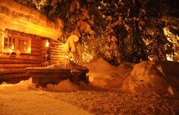A cabana dos lenhadores em Courchevel