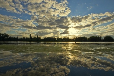 O Rio Allier em Vichy. Na época de menino, o paraiso dos pescadores
