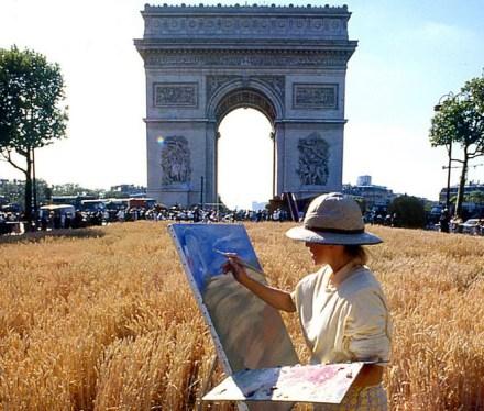 Pintora nos Champs Elysées