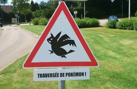 Os avisos de Pokemons perto de Rouen