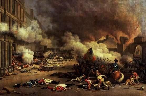 La prise des Tuileries par la populace le 10 août 1792