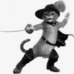Chat botté combatant
