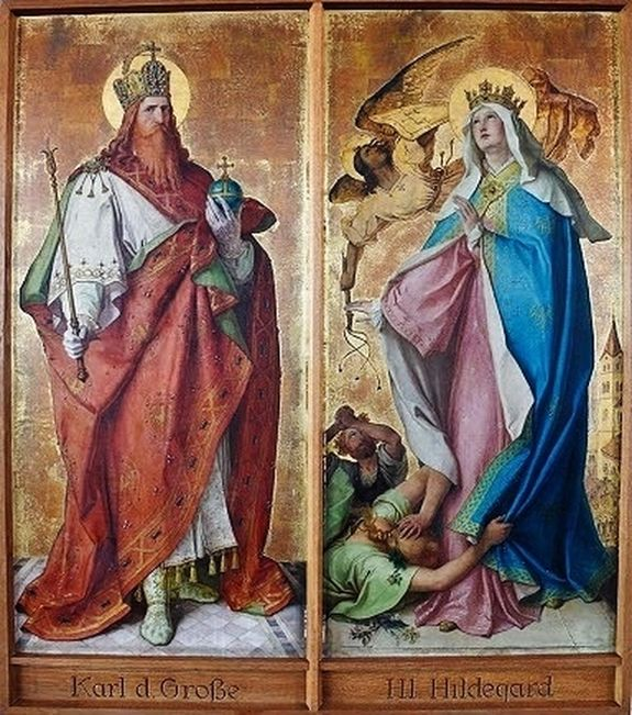 Karl Baumeister - Saint Charlemagne et Sainte Hildegarde