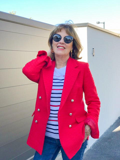 veste classique rouge