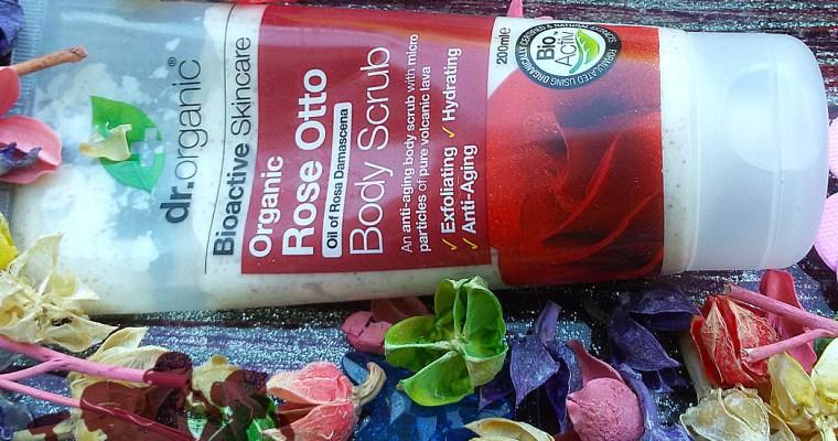 Body Scrub rose otto, Dr Organic