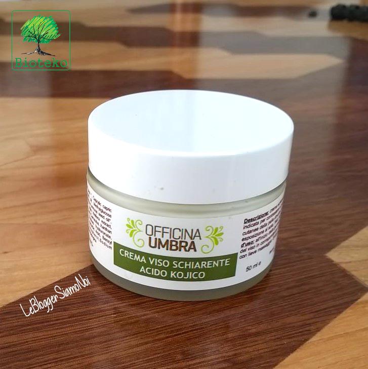 Bioteko, OFFICINA UMBRA - Crema viso schiarente all'acido kojico per pelle con macchie