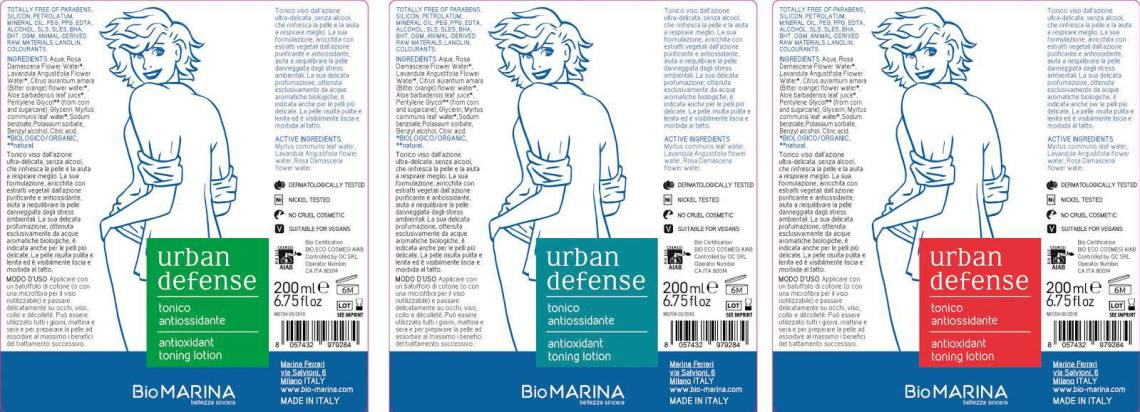 Urban Defense, tonico antiossidante - Bio Marina