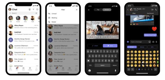 Nouvel interface de l'application mobile