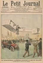 En 1906, le brésilien Santos-Dumont enregistre en France les premiers vols homologués et les premiers records de l'aviation.