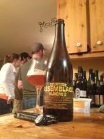 9- Dunham - Assemblage No.2: vendue lors de leur 3e anniversaire, cette bière est le résultat de l'assemblage de leur Triple XXX et de leur Impérial India, vieillie en barrique de vin avec des brettanomyces. Le côté vineux des barriques avec le côté houblonnée de cette bière m'ont agréablement plu.