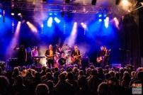 Thorbjørn Risager (vocals, guitar), Peter Kehl (trumpet), Hans Nybo Jørgensen (saxophone), Martin Seidelin (drums), Peter Skjerning (guitar), Emil Balsgaard (keyboards), Søren Bøjgaard (bass). Thorbjørn Risager & the Black Tornado @ 4ème Blues Party, Les Jardins du Millenium, l'Isle d'Abeau (France), 04.06.2016. (c) Christophe Losberger