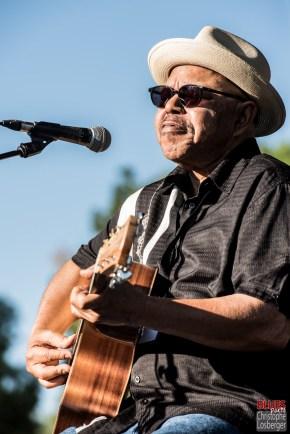 Larry Garner (vocals, guitar). Larry Garner & Michael Van Merwyk @ 5ème Blues Party, Les Jardins du Millenium, l'Isle d'Abeau (France), 10.06.2017. (c) Christophe Losberger