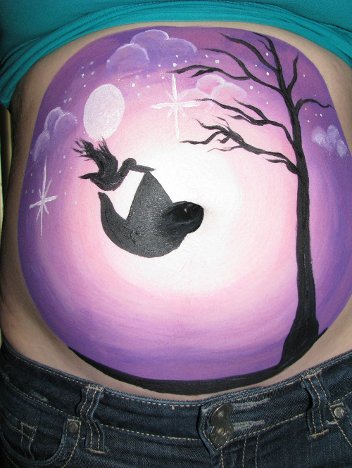 belly-painting-cigogne