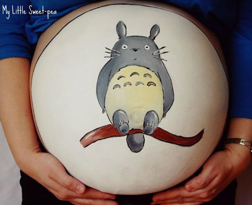 belly-painting-totoro