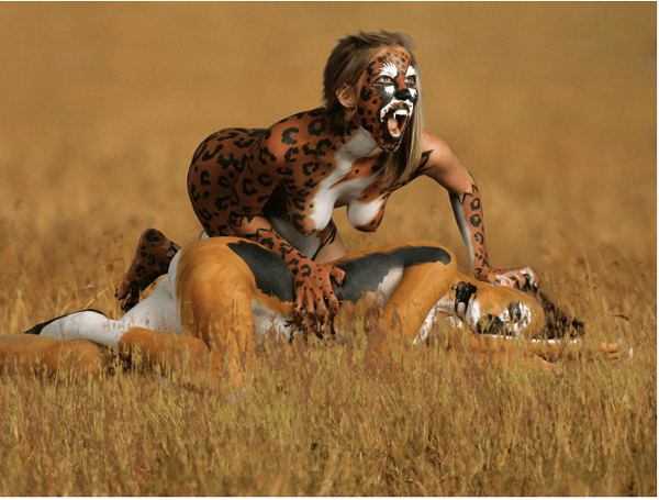 body-painting-leopard-maquillage