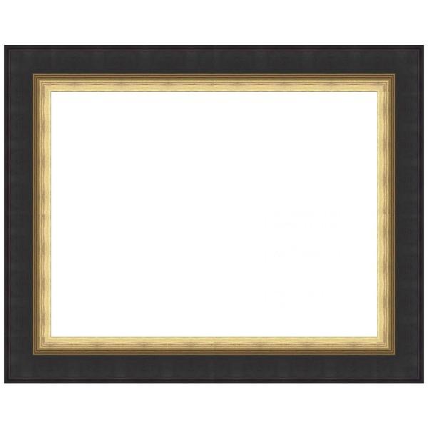 cadre regency noir patine avec filet dore