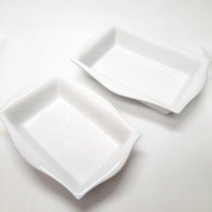 Plat rectangulaire blanc