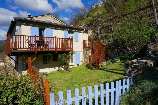 Jardin du gîte rural en Ardèche