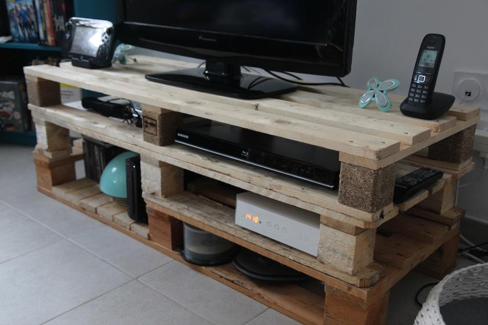 meuble tv en palette tutoriel le