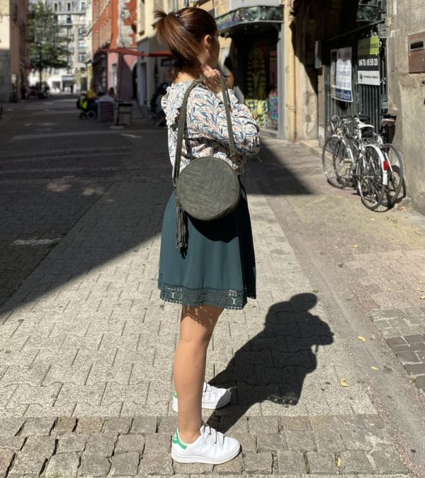 jupe Adina vert émeraude de chez Cerise Blue