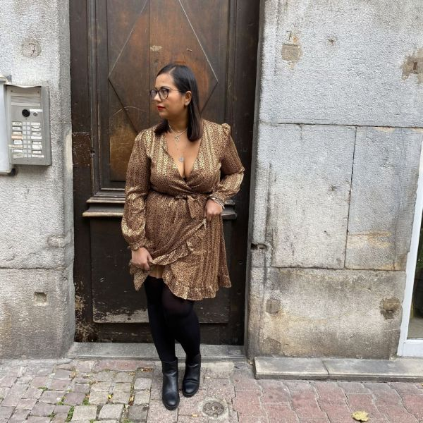 robe Elza léopard