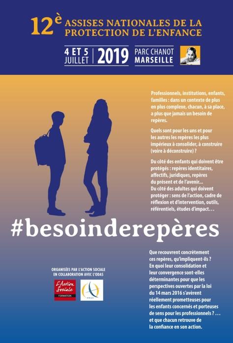 Couverture du programme des 12e Assises Nationales de la Protection de l'Enfance 2019