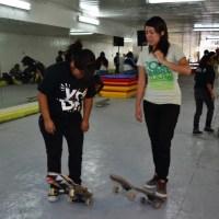 """Clínicas de Skate de Chica Rider en """"El Sub"""""""