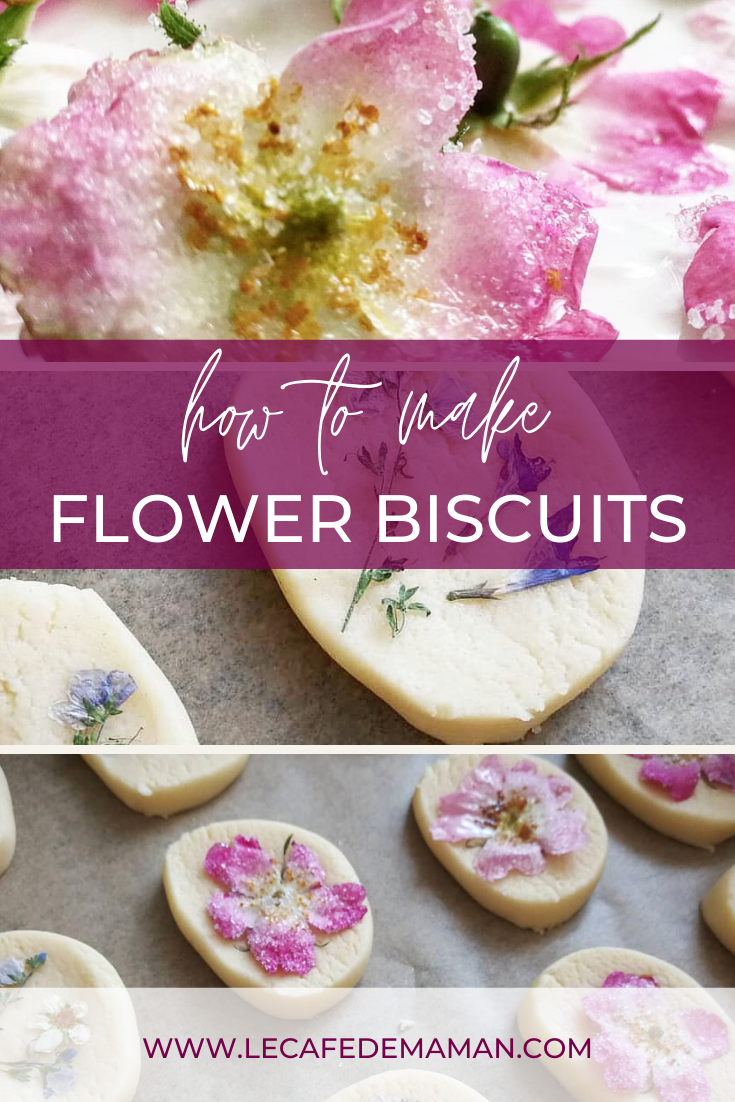 Homemade floral biscuits recipe