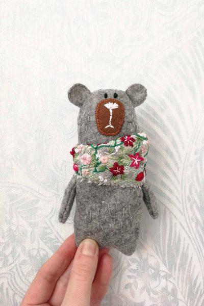 DIY craft stuffed bear toy