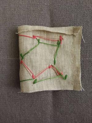 textile tulip fold