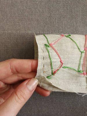 textile tulip stitching