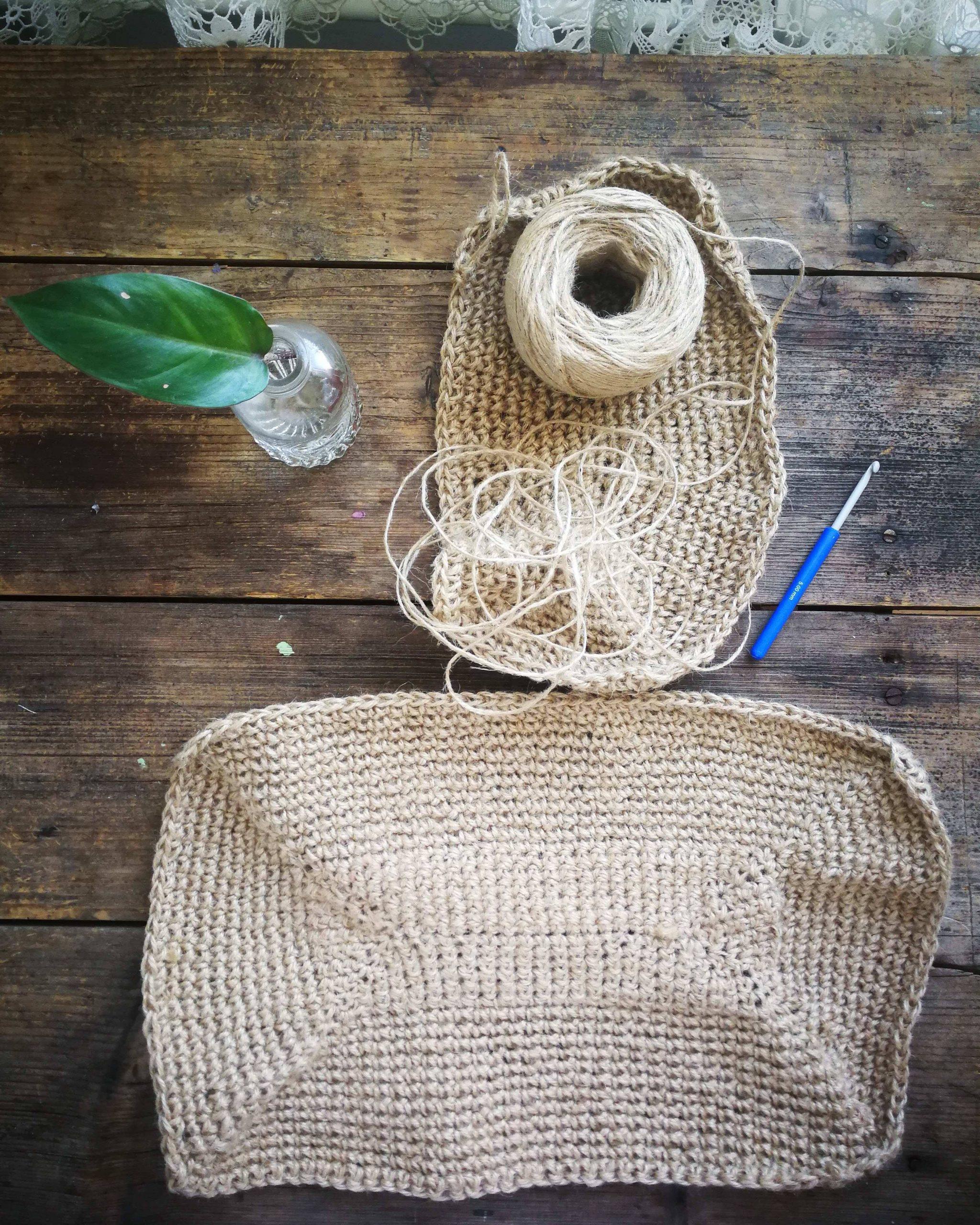 diy jute bag for growing potatoes