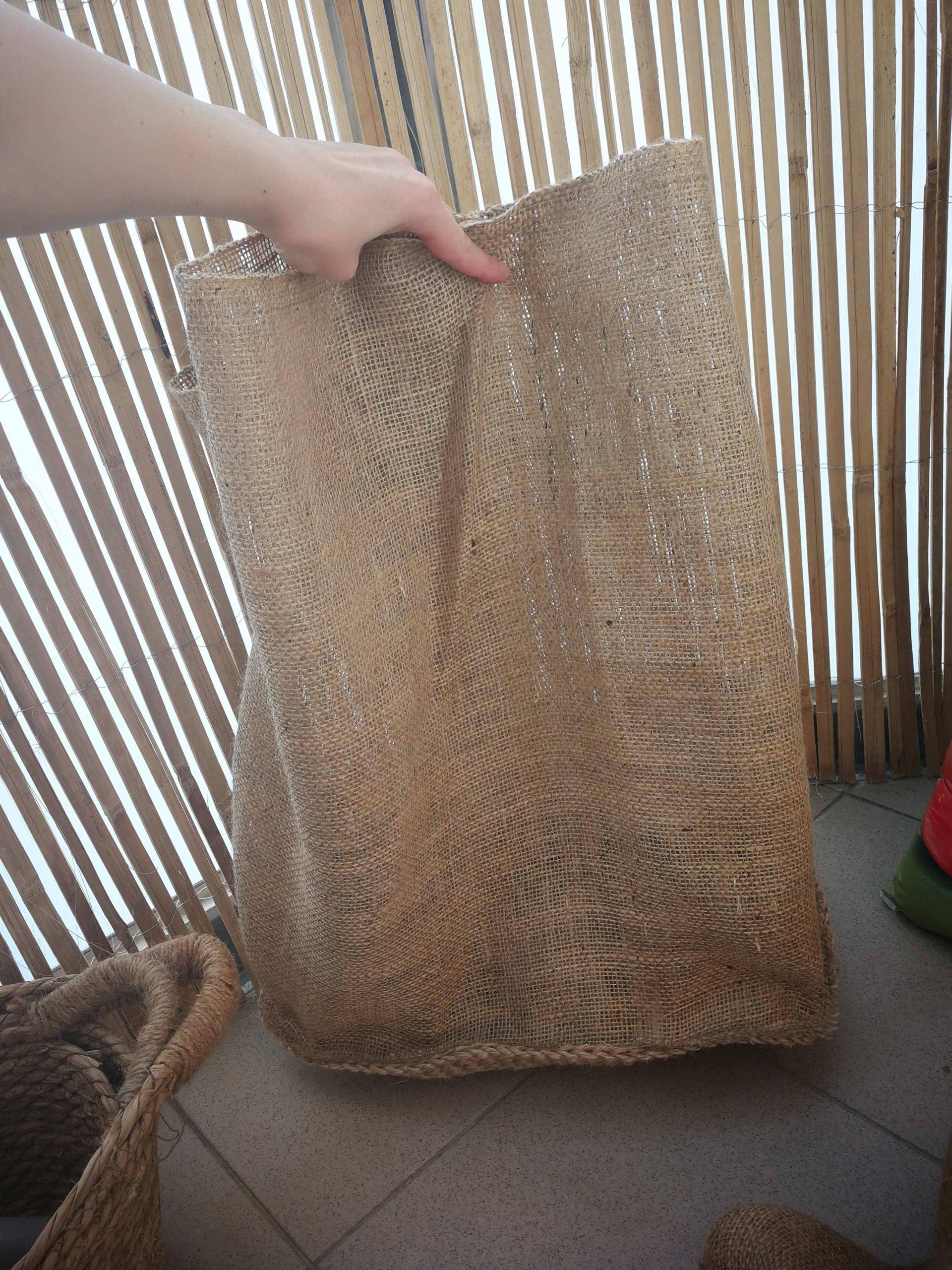 growing potatoes in diy jute bag