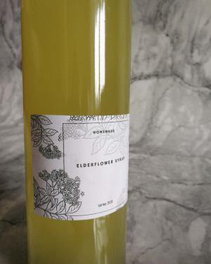 elderflower syrup recipe free printable