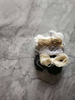 woven necklace yarn