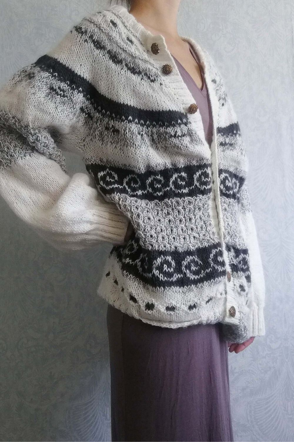 old times bw cardigan
