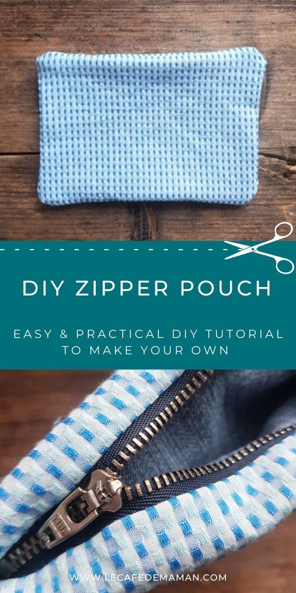 easy diy zipper pouch
