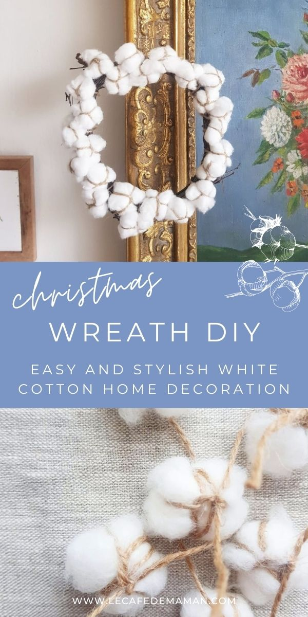 how to make cotton wreath