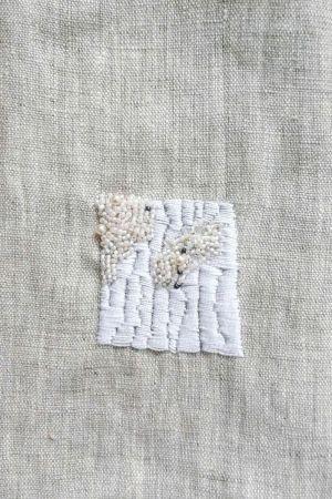 minimalist bead embroidery