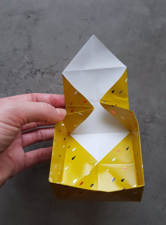 origami box with lid diy