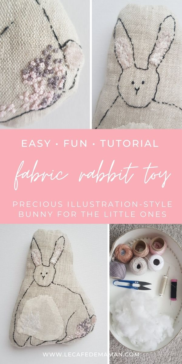 fabric bunny toy craft