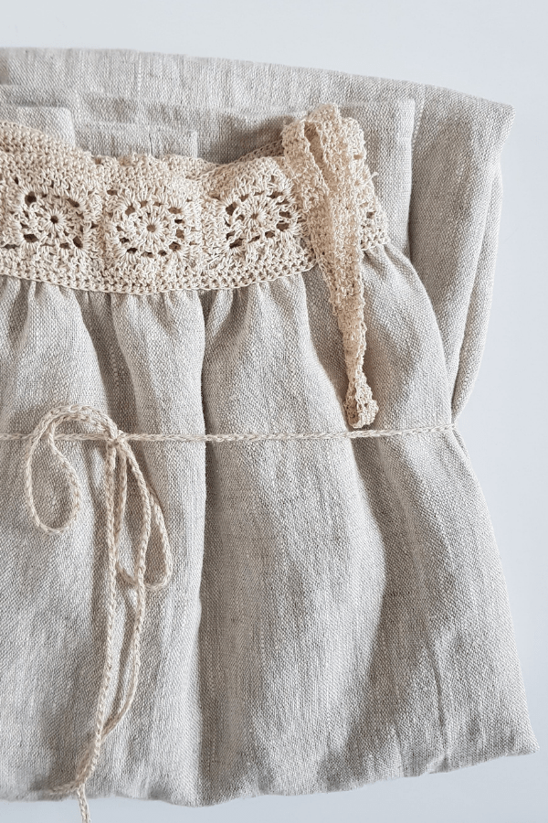 Clemence crochet linen dress