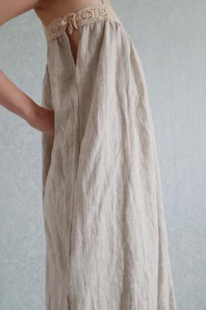Crochet linen summer dress Clemence