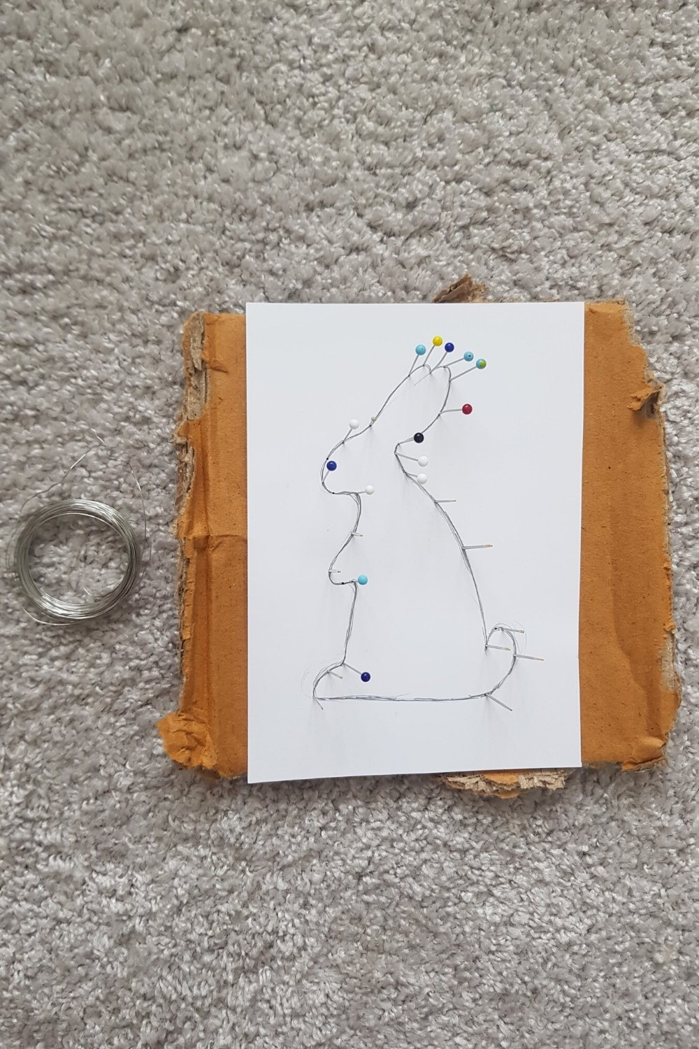 easy wire bunny decoration