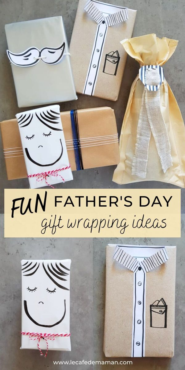 fun fathers day gift wrapping ideas