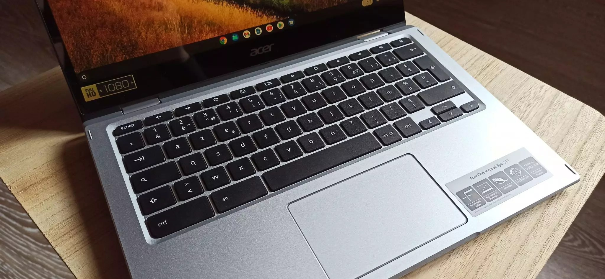 Chromebook-Spin-513-clavier