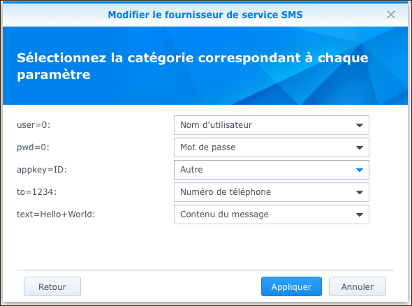 SMS Synology